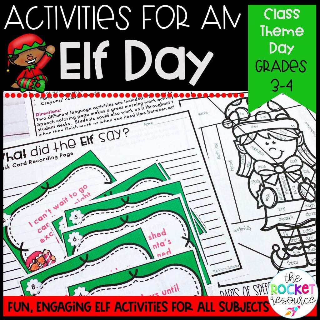 elf classroom theme day