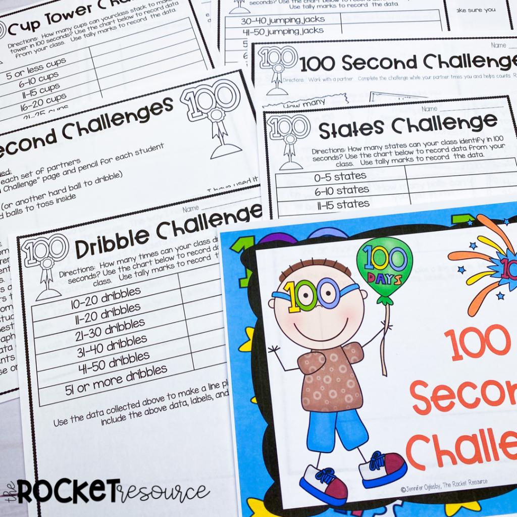 100th day of school upper elementary activities