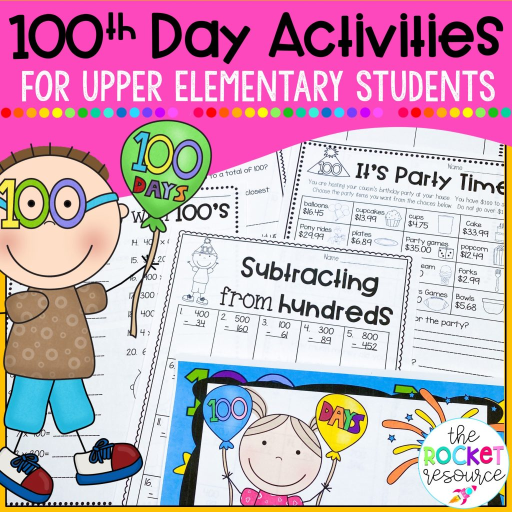 100th day activities for upper elementary