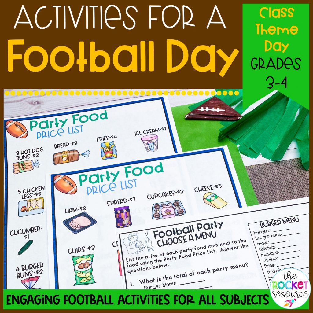 football classroom theme day