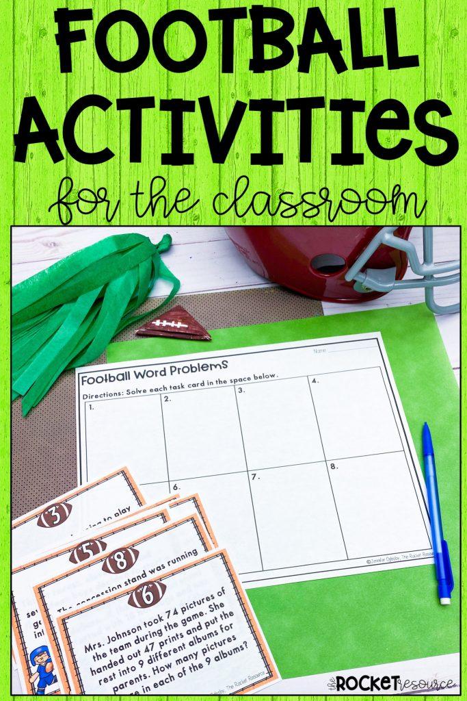 football classroom activities