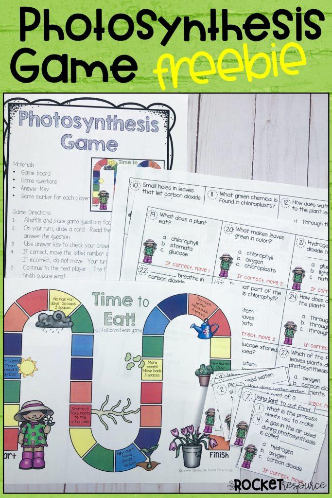 photosynthesis game freebie